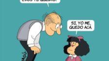 Ilustración de MAGU sobre Quino y Mafalda